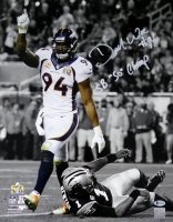 """DeMarcus Ware Signed Broncos 16x20 Photo Inscribed """"SB """"50"""" Champ"""" (Beckett COA) at PristineAuction.com"""