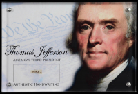 Thomas Jefferson Authentic Hand-Written Word Cut in Acrylic Display Case (JSA LOA) at PristineAuction.com