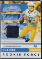 Justin Herbert 2020 Absolute Rookie Force Jersey Card #3 at PristineAuction.com