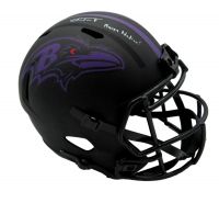 "Justin Tucker Signed Ravens Full-Size Eclipse Alternate Speed Helmet Inscribed ""Raven Nation!"" (JSA COA) at PristineAuction.com"