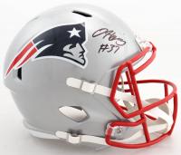 Damien Harris Signed Patriots Full-Size Speed Helmet (Beckett COA) at PristineAuction.com