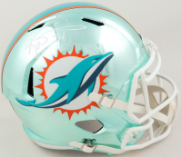 Ricky Williams Signed Dolphins Full-Size Chrome Speed Helmet (Beckett COA) at PristineAuction.com