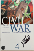 "Stan Lee Signed 2006 ""Civil War"" Issue #4 Marvel Comic Book (Lee COA) at PristineAuction.com"