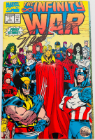 "Stan Lee Signed 1992 ""Infinity War"" Issue #1 Marvel Comic Book (Lee COA) at PristineAuction.com"