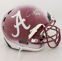 Damien Harris Signed Alabama Crimson Tide Full-Size Authentic On-Field Hydro-Dipped Helmet (Beckett COA) at PristineAuction.com