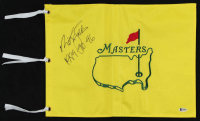 "Nick Faldo Signed 13x17.5 Masters Flag Inscribed ""1989-90-96"" (Beckett COA) at PristineAuction.com"