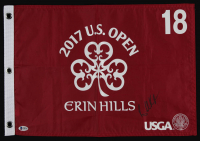Brooks Koepka Signed 2017 U.S. Open Erin Hills Flag (Beckett COA) at PristineAuction.com