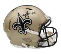 Alvin Kamara Signed Saints Full-Size Authentic On-Field Speed Helmet (Radtke COA) at PristineAuction.com