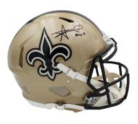 "Alvin Kamara Signed Saints Full-Size Authentic On-Field Speed Helmet Inscribed ""ROY 17"" (Radtke COA) at PristineAuction.com"