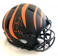 """Joe Burrow Signed Bengals Full-Size Authentic On-Field Eclipse Alternate Speed Helmet Inscribed """"2020 #1 Pick"""" (Fanatics Hologram) at PristineAuction.com"""