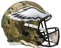 "Brian Dawkins Signed Eagles Full-Size Camo Alternate Speed Helmet Inscribed ""Last to Wear #20"" (JSA COA) at PristineAuction.com"