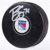 Brady Skjei Signed Rangers Logo Hockey Puck (Fanatics Hologram & Steiner Hologram) at PristineAuction.com