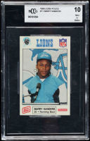 Barry Sanders 1989 Lions Police #11 RC (BCCG 10) at PristineAuction.com