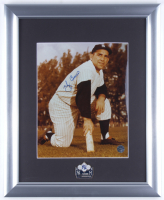 Yogi Berra Signed 13x16 Custom Framed Photo with 1958 World Series Pin (JSA ALOA) at PristineAuction.com