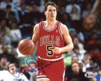 John Paxson Signed Bulls 8x10 Photo (Beckett COA) at PristineAuction.com
