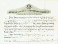 "George S. Patton Signed ""Army of the United States of America"" Discharge Document (PSA LOA) at PristineAuction.com"