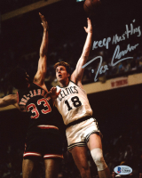 """Dave Cowens Signed Celtics 8x10 Photo Inscribed """"Keep Hustling"""" (Beckett COA) at PristineAuction.com"""