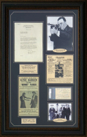 "J. Edgar Hoover, B.M. Gault & Frank Hamer Signed ""Bonnie & Clyde"" 25x37 Custom Framed Cut & Letter Display (PSA LOA & PSA Encapsulated) at PristineAuction.com"