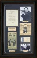 """J. Edgar Hoover, B.M. Gault & Frank Hamer Signed """"Bonnie & Clyde"""" 25x37 Custom Framed Cut & Letter Display (PSA LOA & PSA Encapsulated) at PristineAuction.com"""