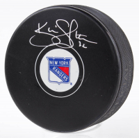 Kevin Shattenkirk Signed Rangers Logo Hockey Puck (Fanatics Hologram & Steiner Hologram) at PristineAuction.com