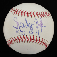"""Sparky Lyle Signed OML Baseball Inscribed """"1977 CY""""  (Autograph Reference COA & MAB Hologram) (See Description) at PristineAuction.com"""