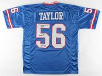 "Lawrence Taylor Signed Jersey Inscribed ""HOF 99"" & ""G.O.A.T."" (JSA COA) at PristineAuction.com"