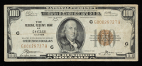 1929 $100 One-Hundred Dollars U.S. National Currency Bank Note - (The Federal Reserve Bank of Chicago, Illinois) at PristineAuction.com