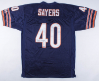 "Gale Sayers Signed Bears Jersey Inscribed ""HOF 77"" (JSA COA) at PristineAuction.com"