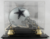 Emmitt Smith Signed Cowboys Mini Helmet with Display Case (Beckett COA) at PristineAuction.com