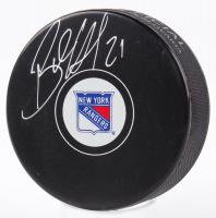 Brett Howden Signed Rangers Logo Hockey Puck (Fanatics Hologram & Steiner Hologram) at PristineAuction.com