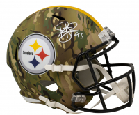 Troy Polamalu Signed Steelers Full-Size Camo Alternate Speed Helmet (Beckett COA) at PristineAuction.com