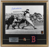 Ted Williams Signed Red Sox 23x24 Custom Framed Photo Display (PSA LOA & Williams Hologram) at PristineAuction.com
