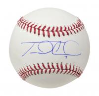 Travis d'Arnaud Signed OML Baseball (Fanatics Hologram) at PristineAuction.com