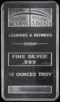 10 Troy Ounce NTR Metals .999 Fine Silver Bullion Bar at PristineAuction.com