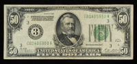 1928 $50 Fifty Dollars Green Seal U.S. Legal Tender Note at PristineAuction.com