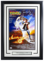 """Christopher Lloyd Signed """"Back to the Future"""" 11x17 Custom Framed Movie Poster Display (PSA COA) at PristineAuction.com"""