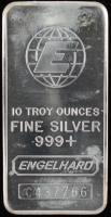 10 Troy Ounce Engelhard .999 Fine Silver Bullion Bar at PristineAuction.com