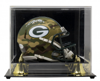 Davante Adams Signed Packers Camo Alternate Speed Mini Helmet With Display Case (Beckett COA) at PristineAuction.com