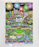 "Charles Fazzino Signed Dodgers ""Go Dodger Blue"" 13x16 LE Pop Art Display (Museum Editions COA) at PristineAuction.com"