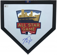 Mike Trout Signed 19x21 Custom Framed 2014 All-Star Game Mini Home Plate (MLB Hologram) at PristineAuction.com
