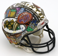 Charles Fazzino Signed & Hand-Painted Saints Mini Helmet (Pristine Auction LOA) at PristineAuction.com