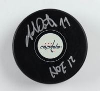 "Adam Oates Signed Capitals Logo Hockey Puck Inscribed ""HOF 12"" (JSA COA) at PristineAuction.com"