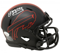 Jim Kelly Signed Bills Eclipse Alternate Speed Mini Helmet (JSA COA) at PristineAuction.com