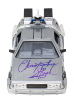 """Christopher Lloyd Signed """"Back to the Future II"""" Delorean Time Machine Light Up Die-Cast Car (PSA COA) at PristineAuction.com"""