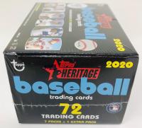 2020 Topps Heritage Baseball Blaster Box of (8) Packs at PristineAuction.com