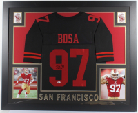 Nick Bosa Signed 35x43 Custom Framed Jersey (Beckett COA) at PristineAuction.com