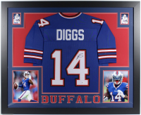 Stefon Diggs Signed 35x43 Custom Framed Jersey (Beckett COA) (See Description) at PristineAuction.com