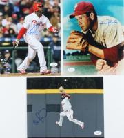 Lot of (3) Signed Phillies 8x10 Photos with Robin Roberts, Ryan Howard, & Odubel Herrera (JSA COA) at PristineAuction.com