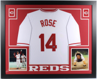 Pete Rose Signed 35x43 Custom Framed Jersey (Fiterman Hologram) at PristineAuction.com