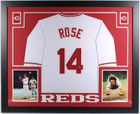 Pete Rose Signed 35x43 Custom Framed Jersey (Fiterman Hologram) at PristineAuction.com